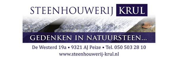 Steenhouwerij Krul, sponsor Zomerbad Peize, openluchtbad Noordenveld