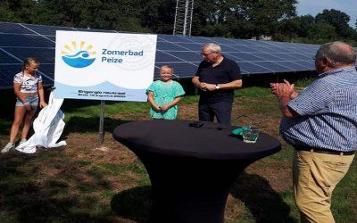 Onthulling zonnepark Zomerbad Peize