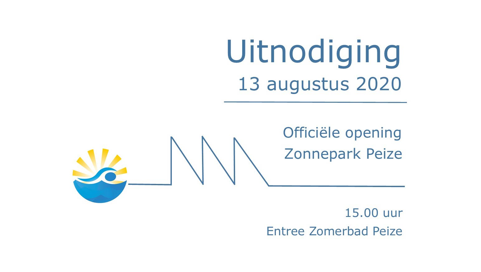 uitnodiging opening zonnepark zomerbad peize